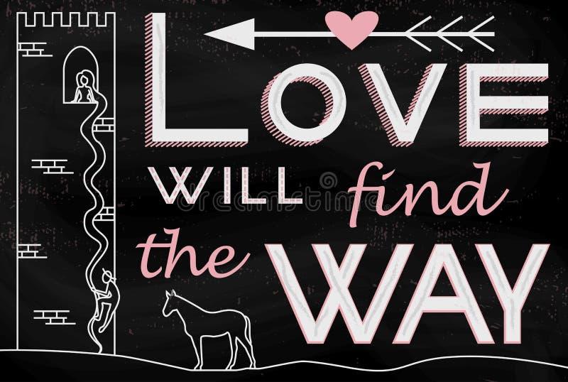 O amor encontrará a maneira ilustração royalty free