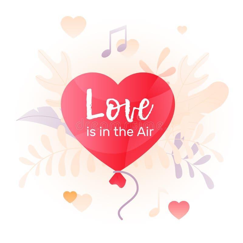 O amor está na ilustração do ar ilustração stock