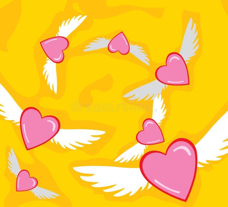 O amor está no ar ilustração royalty free