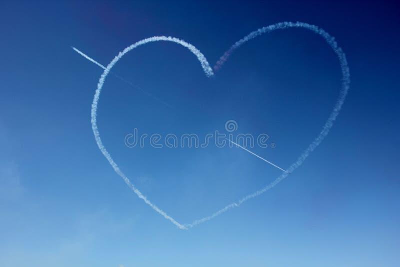 O amor está no ar fotografia de stock