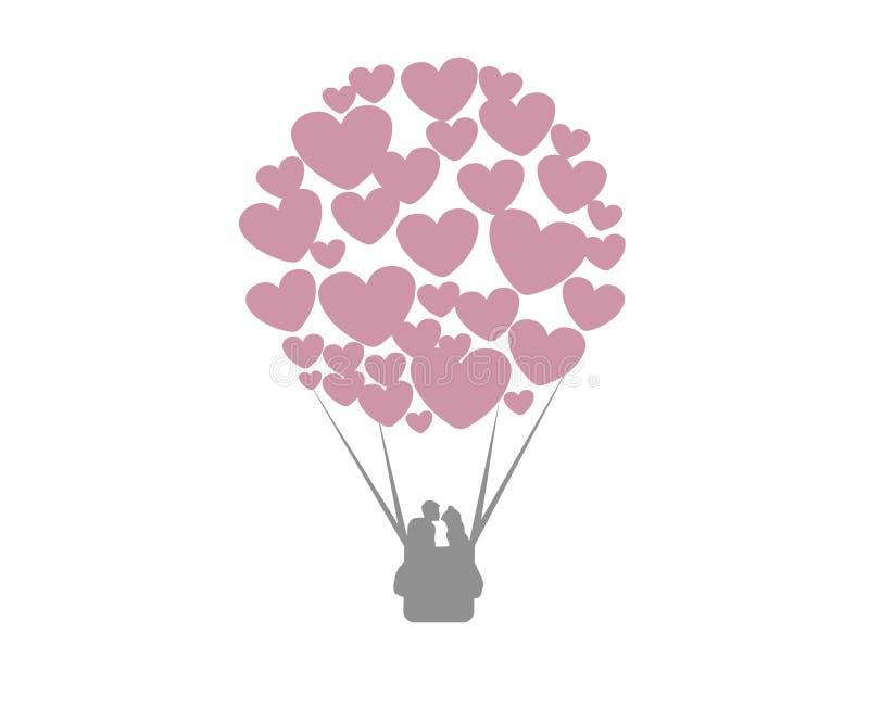 O amor está no ar ilustração stock