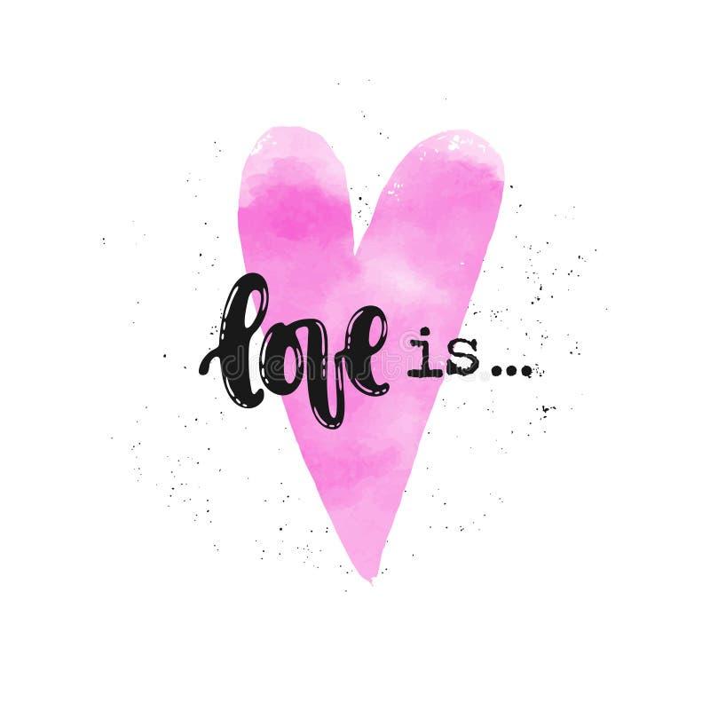 O amor está rotulando ilustração do vetor