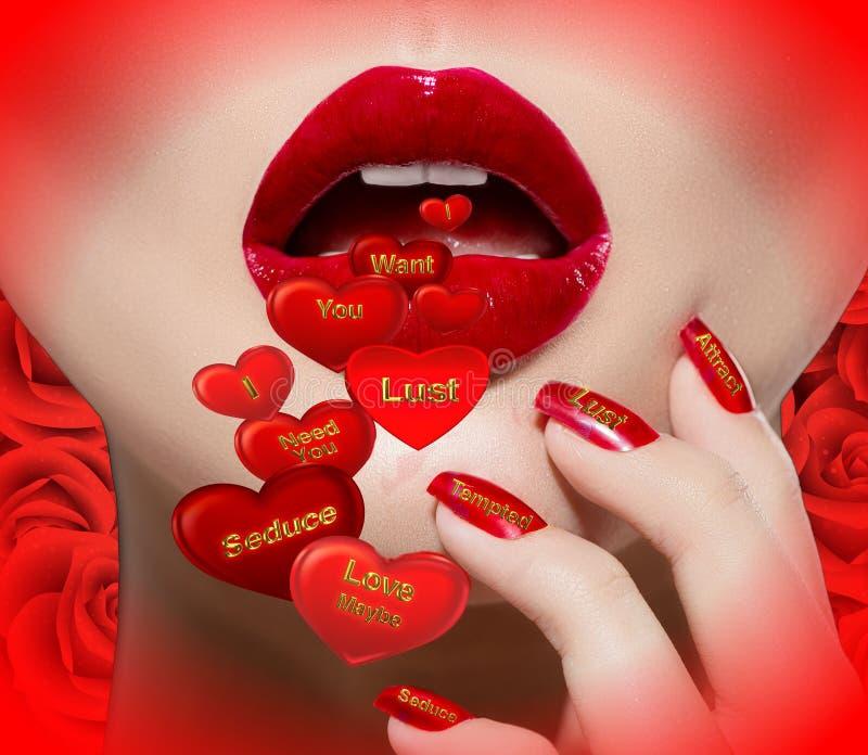 O amor fala. imagem de stock royalty free