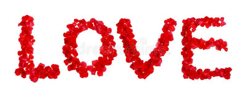 O amor feito de levantou-se imagem de stock