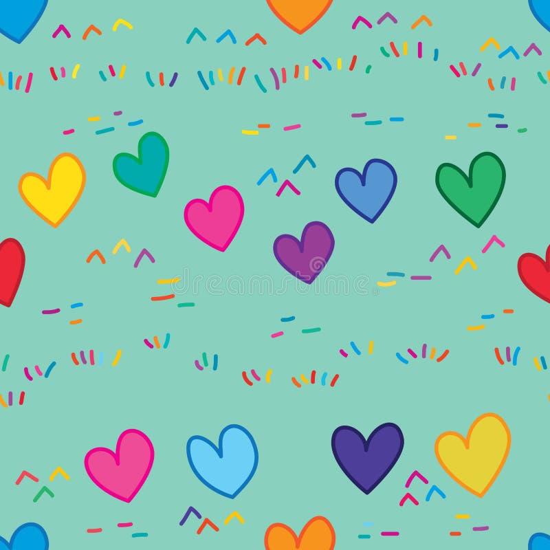 O amor intoxica o teste padrão sem emenda da terra ilustração royalty free