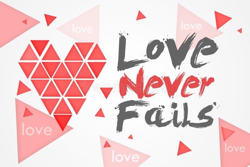 O amor nunca falha ilustração do vetor