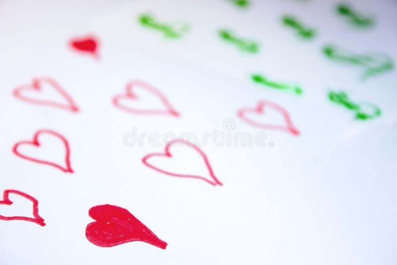 O amor vem antes do dinheiro fotos de stock