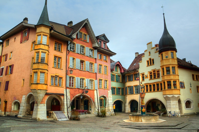 O anel 02, Biel (Bienne), Switzerland imagens de stock royalty free