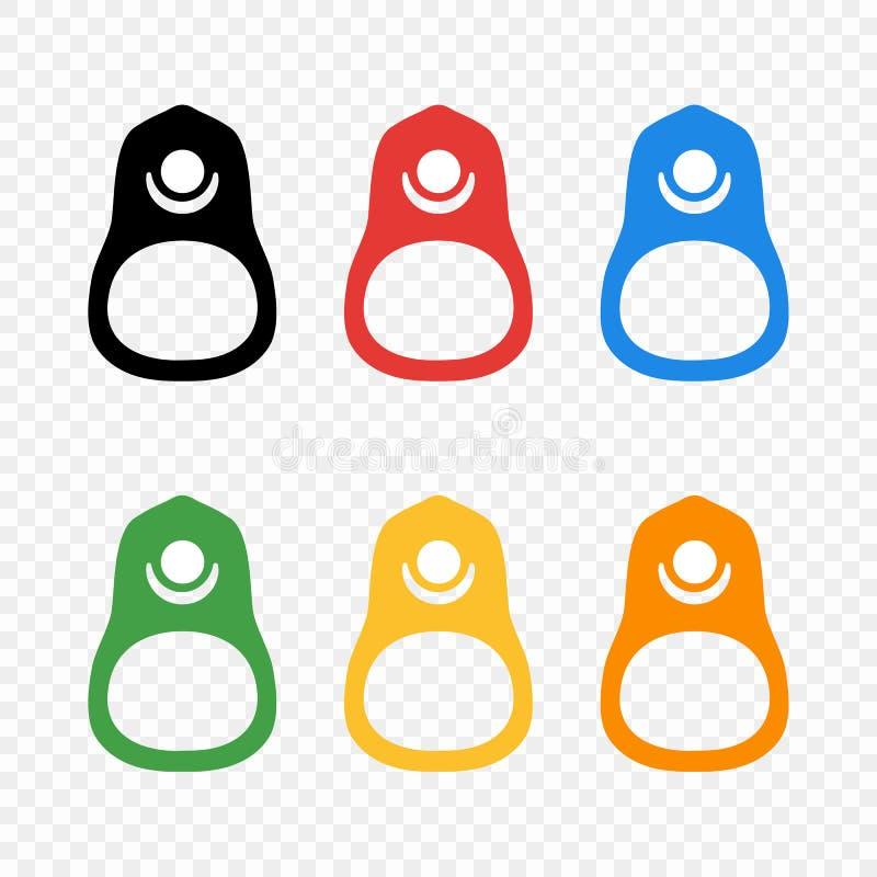 O anel colorido da lata a abrir do alimento Latas de alumínio do elemento Ilustração do vetor no fundo transparente ilustração royalty free