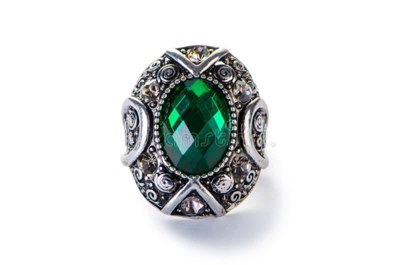 O anel da joia isolado no branco imagem de stock royalty free