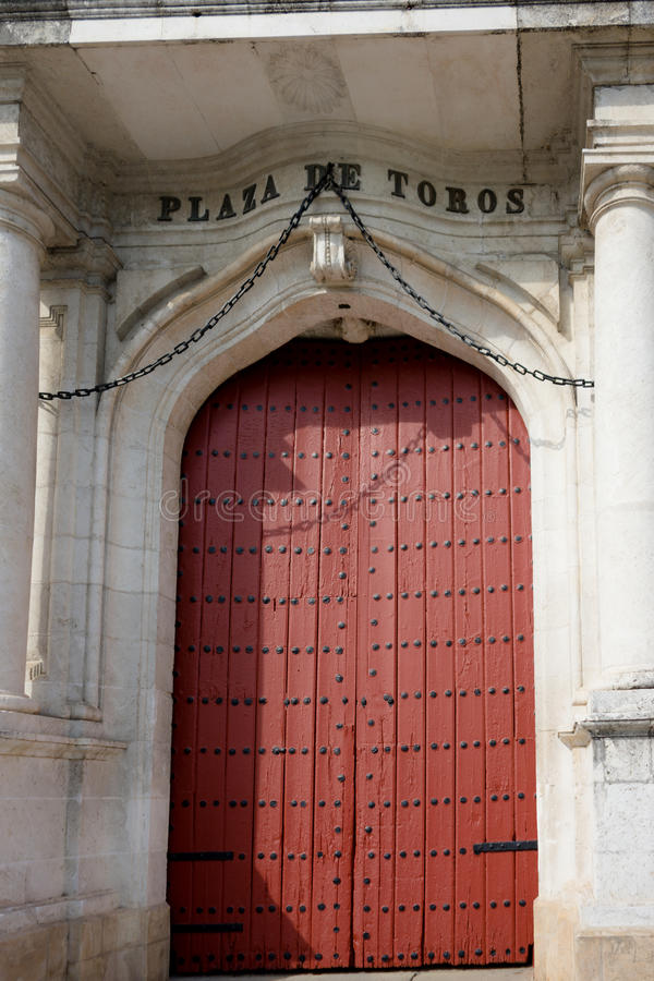 O anel da luta de touro em Sevilha, Espanha, Europa foto de stock