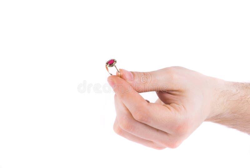 O anel pede fotografia de stock