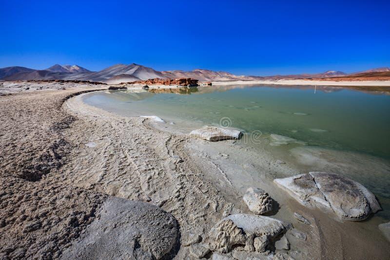 O anfiteatro ? forma??o geological bonita de vale da lua no deserto de Atacama, o Chile imagens de stock royalty free