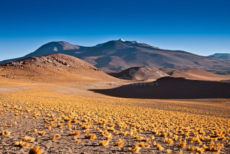 O anfiteatro ? forma??o geological bonita de vale da lua no deserto de Atacama, o Chile fotografia de stock