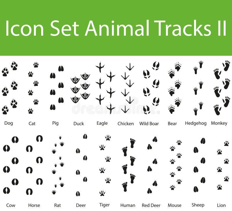 O animal ajustado do ícone segue II ilustração royalty free