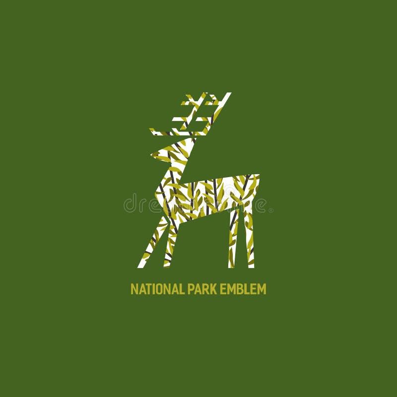 O animal baseou o logotipo ilustração royalty free