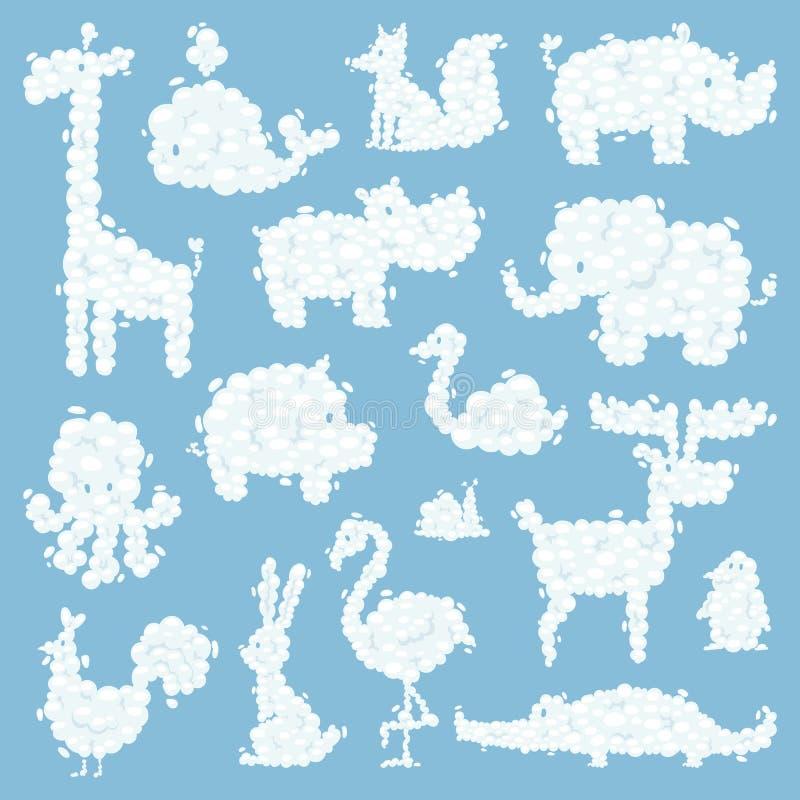 O animal nubla-se a ilustração do vetor do teste padrão da silhueta ilustração royalty free