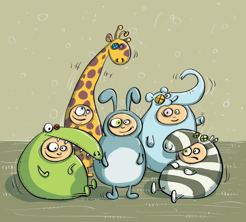Trajes animais ilustração stock