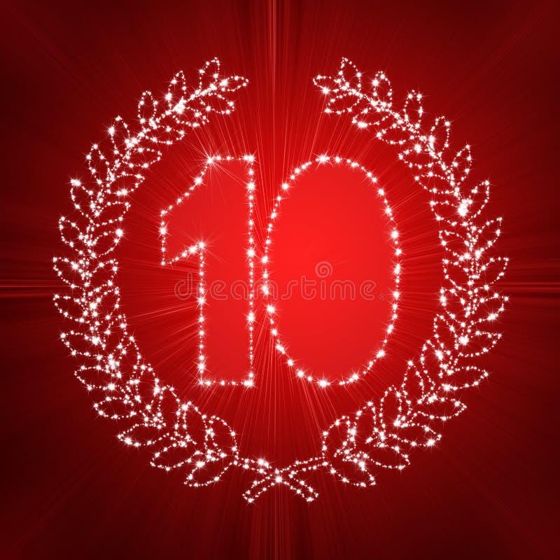 10o aniversário ilustração do vetor