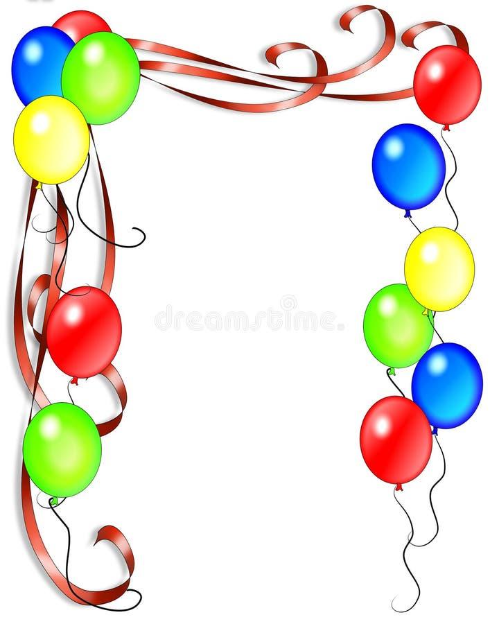 O aniversário Balloons o convite ilustração do vetor