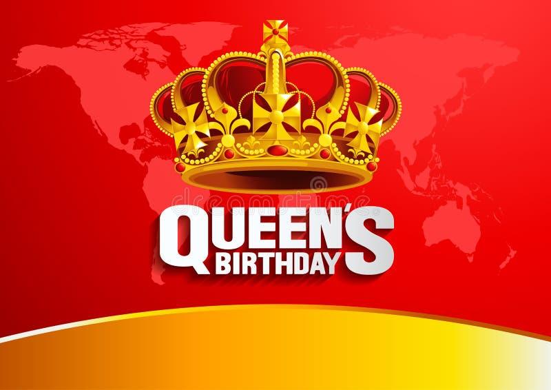 O aniversário da rainha ilustração do vetor