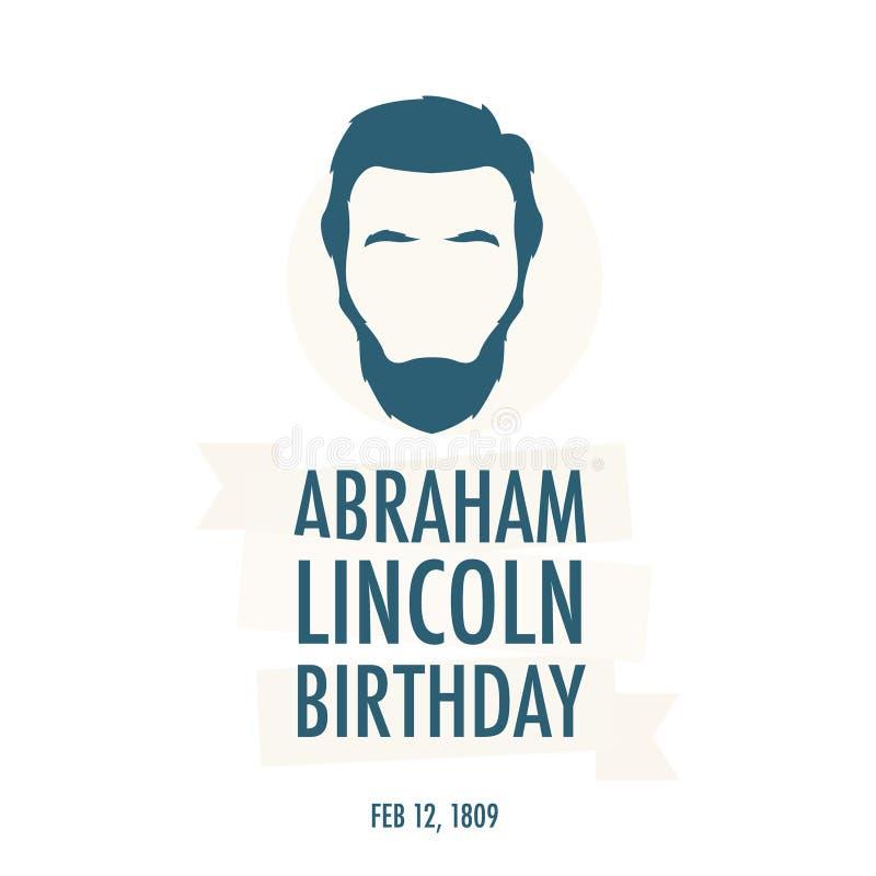 O aniversário do presidente Abraham Lincoln ilustração do vetor