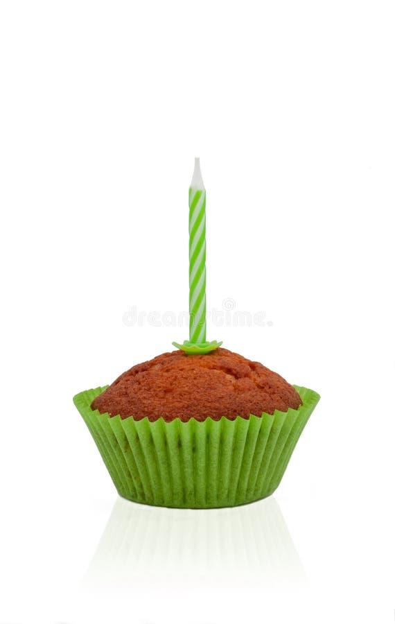 O aniversário doce do queque comemora a foto fotografia de stock royalty free
