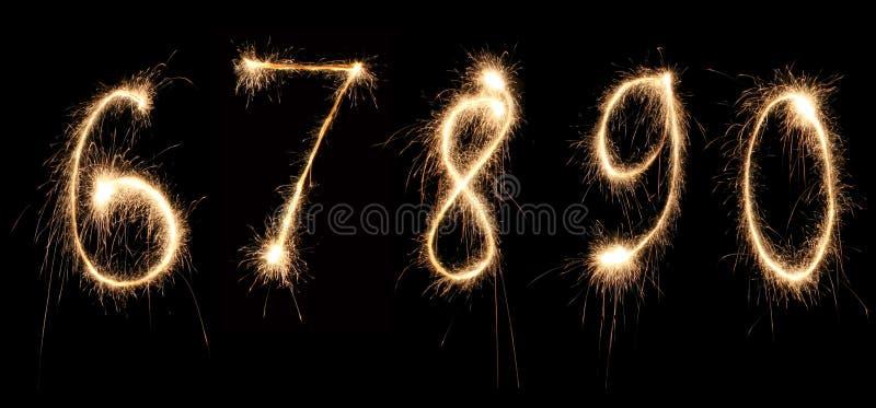 O aniversário numera o sparkler 2 foto de stock
