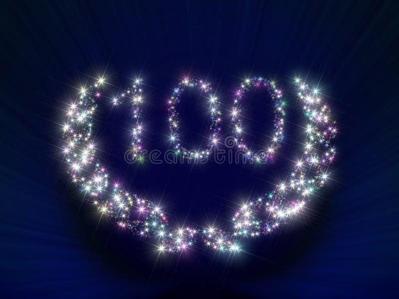 O aniversário Stars 100 ilustração stock