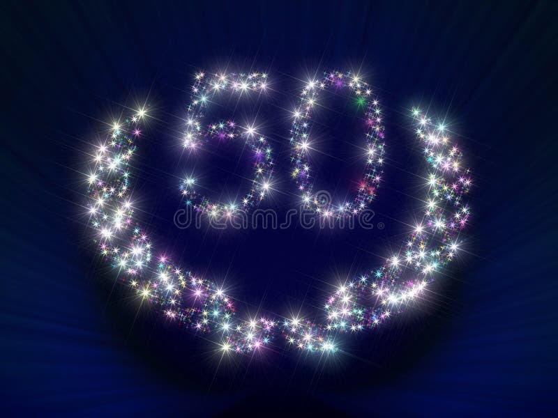 O aniversário Stars o número 50 ilustração stock