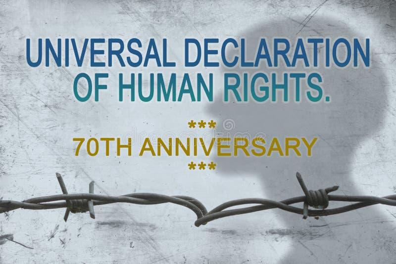 70.o aniversario de universal, derechos humanos de la declaración imagen de archivo libre de regalías