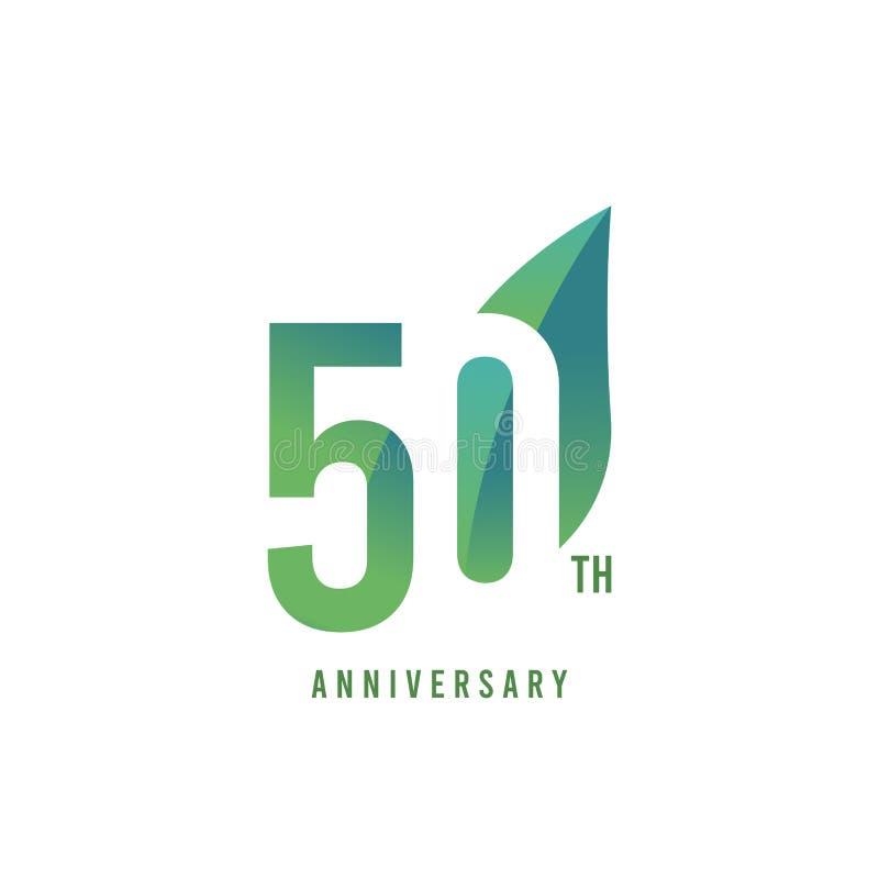 50.o aniversario Logo Vector Template Design Illustration stock de ilustración