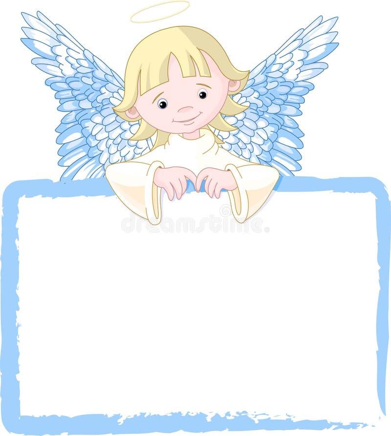 O anjo bonito convida & coloc o cartão ilustração stock