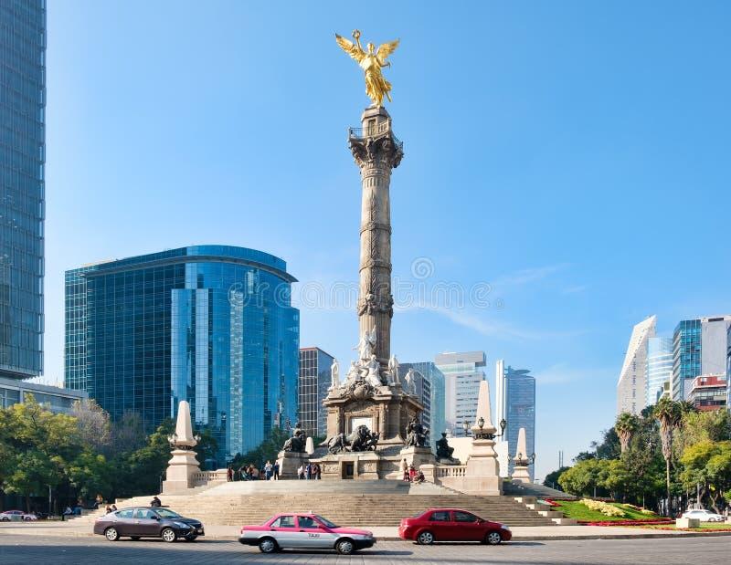 O anjo da independência em Cidade do México fotografia de stock