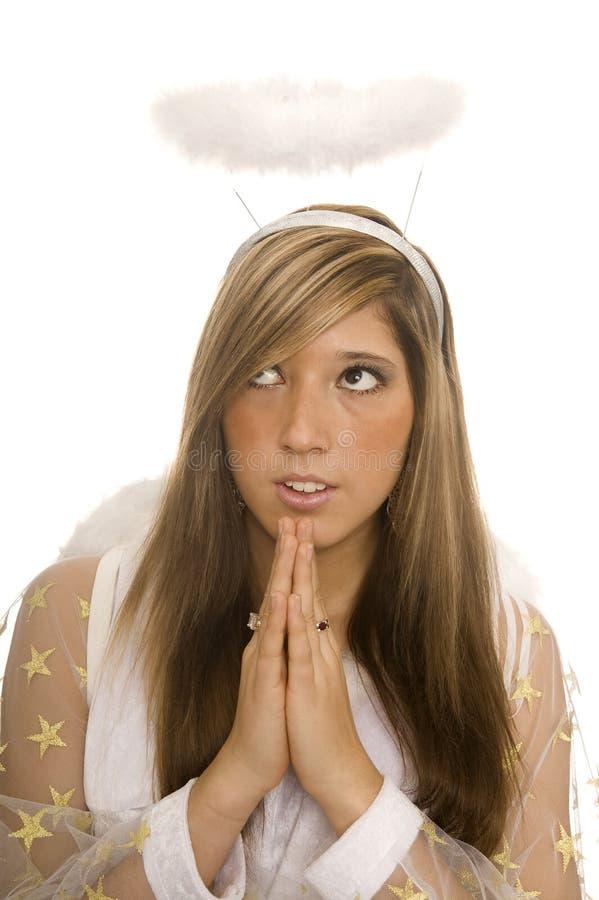 O anjo pray imagens de stock