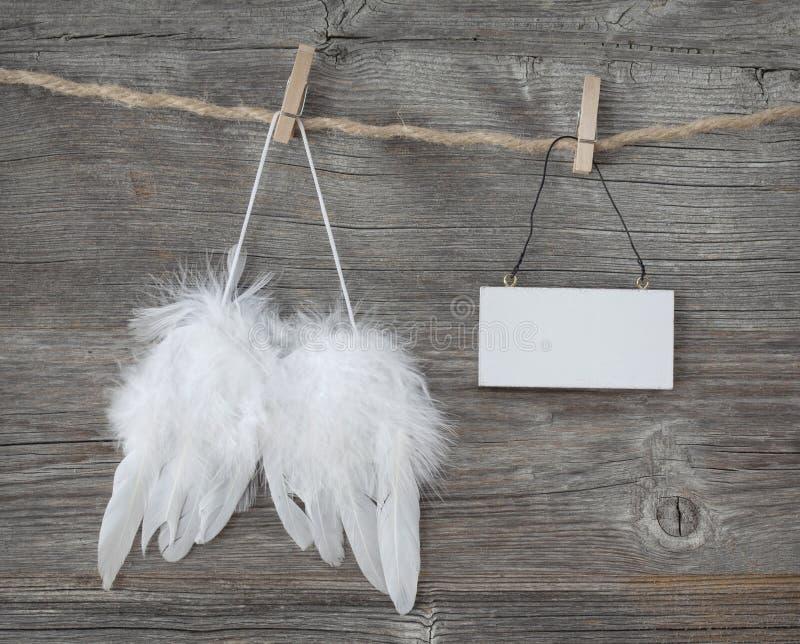 Asas do anjo fotografia de stock