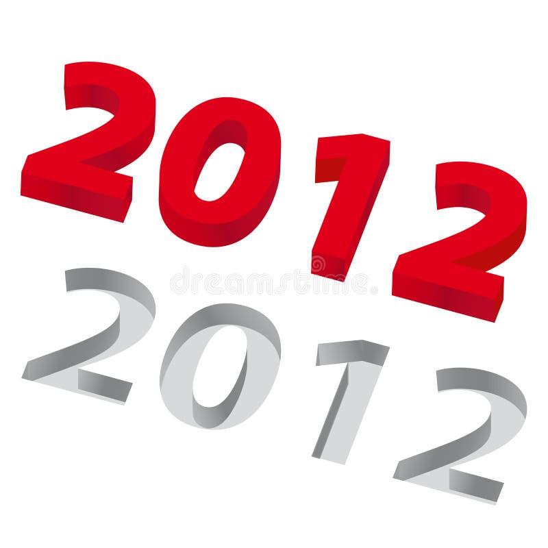 O ano 2012 ilustração royalty free