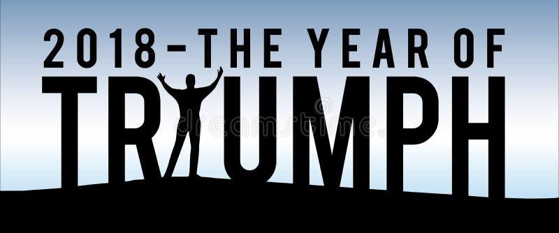 2018 o ano de Triumph ilustração stock