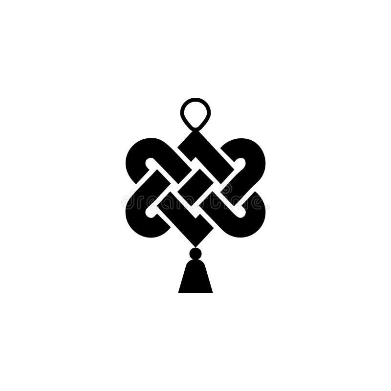 O ano novo, China, ícone do nó pode ser usado para a Web, logotipo, app móvel, UI, UX ilustração do vetor