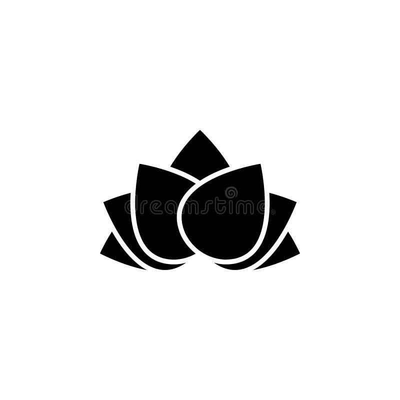 O ano novo, China, ícone dos lótus pode ser usado para a Web, logotipo, app móvel, UI, UX ilustração do vetor