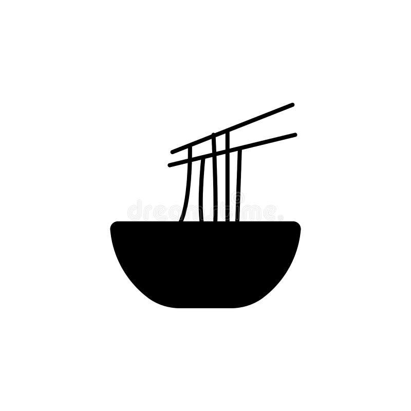 O ano novo, China, ícone dos macarronetes pode ser usado para a Web, logotipo, app móvel, UI, UX ilustração royalty free