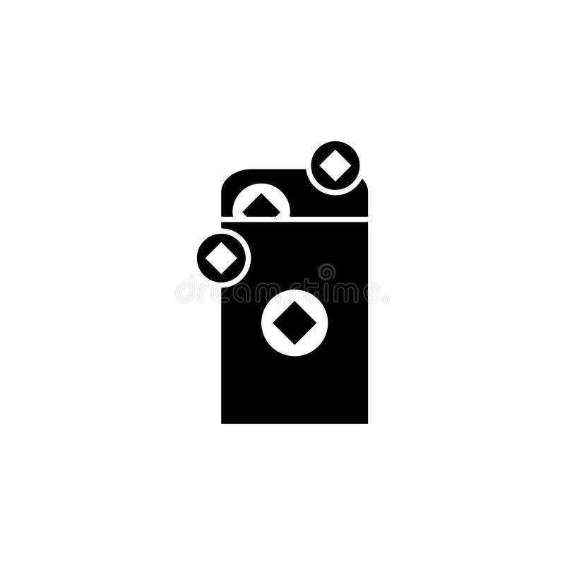 O ano novo, China, envelope, ícone das moedas pode ser usado para a Web, logotipo, app móvel, UI, UX ilustração royalty free