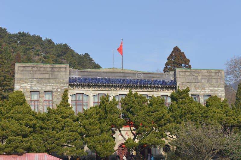 O antigo local da conferência de Lushan imagens de stock