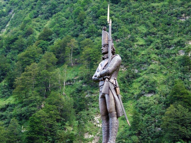 O antro do ¼ r do monumento ao soldado simples do russo ou do fà de Denkmal einfachen russischen Soldaten, olmo imagens de stock