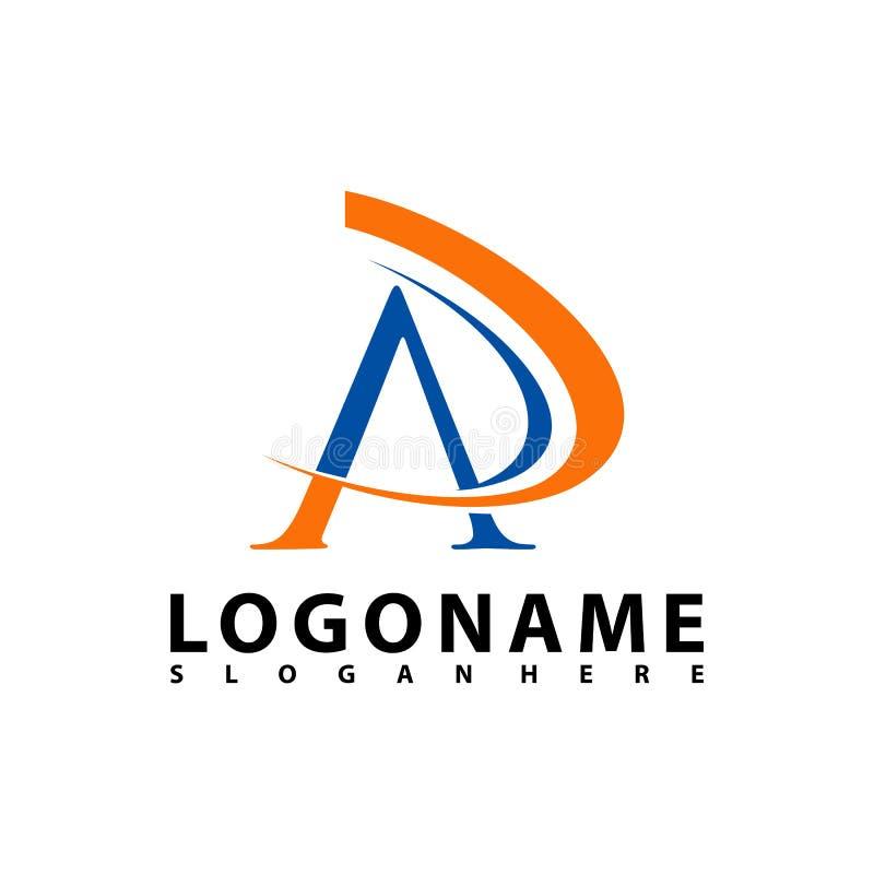 O AP rotula Logo Design com tipografia na moda moderna criativa, AR rotula o vetor do logotipo ilustração do vetor