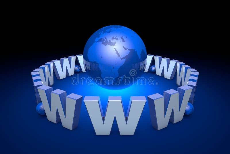 O apego do Internet, era nova da informação Tecnologias da Web ilustração do vetor