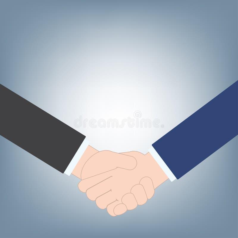 O aperto de mão do negócio pode usar-se como o fundo do negócio, conceito do negócio do acordo de contrato, vetor da ilustração n foto de stock
