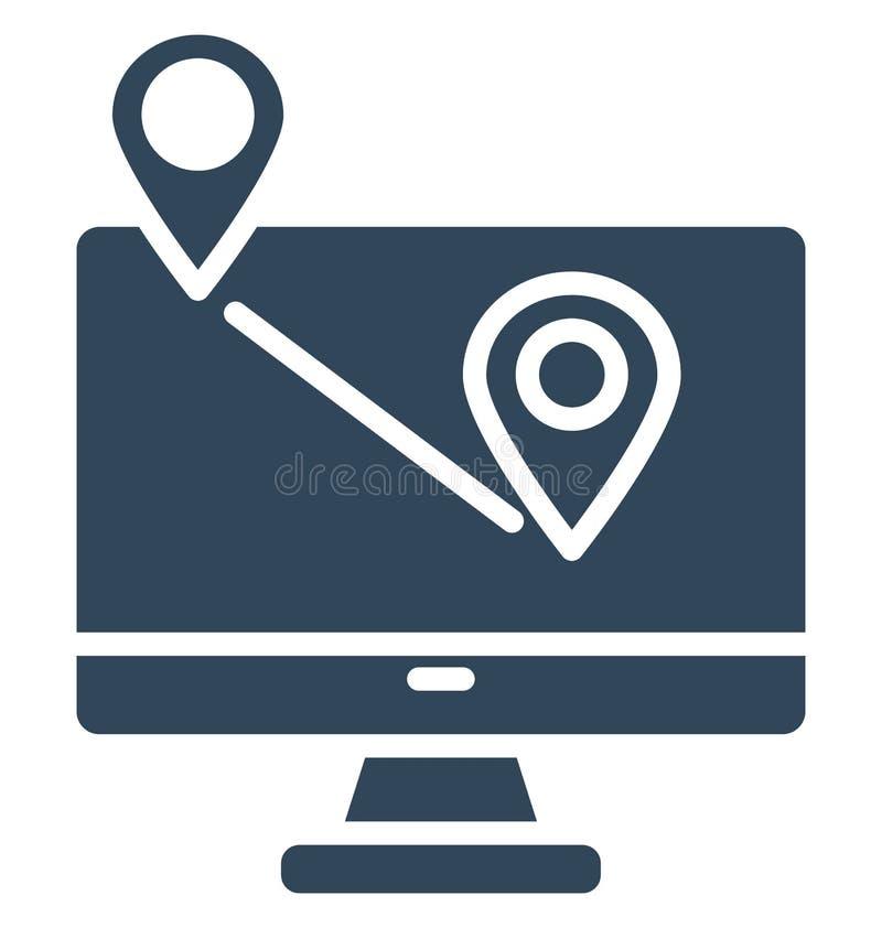 O app isolado app do ícone que pode facilmente alterar ou da navegação do vetor da navegação isolou o ícone do vetor que pode fac ilustração royalty free