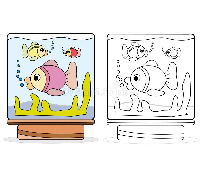 O aquário ilustração stock