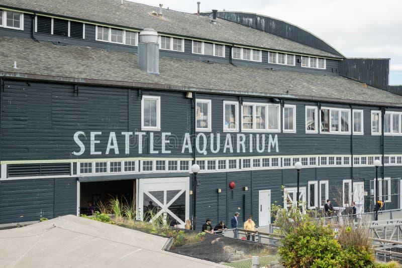 O aquário de Seattle fotos de stock royalty free